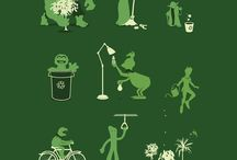 It a̶i̶n̶'̶t̶  is easy being green! / Fun things about going green