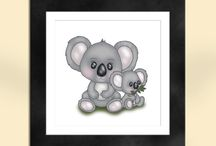 Baby Animal Nursery Prints - Sapphire Moon Art Etsy Store / Baby animal nursery prints at the Sapphire Moon Art and Design Etsy Store