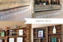 Paletten Wein, Regal, Bar