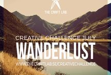 Wanderlust / Join The Craft Lab on a creative challenge! Are you spending too much time in front of the computer and want to get in touch with your creative side? We would love it if you joined us our 12-month creative challenge! We will post a theme each month and you can participate using whichever discipline you choose.