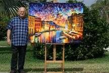 A Tribute to Leonid Afremov®, a Modern Impressionistic Artist / Born 12 July 1955 in Vitebsk, Belarus, Leonid Afremov ® is a Russian–Israeli modern impressionistic artist who works mainly with a palette knife and oils. He developed his own unique technique and style which is unmistakable and cannot be confused with other artists. Afremov is mainly known as being a self-representing artist who promotes and sells his work exclusively over the internet with very little exhibitions and involvement of dealers and galleries.
