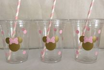 minie mouse pink golden