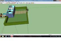 art sketchup huis / de volgende afbeeldingen zijn opbjecten van ons huis