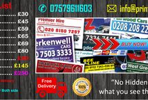 Cheap TAXI MINICAB BUSINESS CARDS