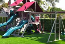 Artificial Turf For Playground in Florida / Playground synthetic grass is the ideal surface for both commercial or residential play area surfacing!