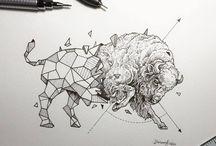 animaux géométrie