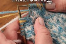 Knitting and things