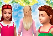 TS4 kids hairstyles