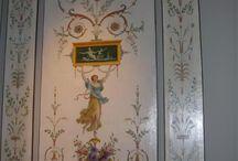 Idées peintures murales pour château / Idées de peintures murales sélectionnées par Votre château de famille, www.votre-chateau-de-famille.com