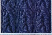 Knitting cables, lace motifs
