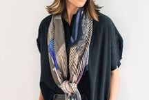fashion // scarf / fashion looks style trend..How to wear scarf..