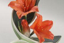 Pottery     ( Porcelain flowers )