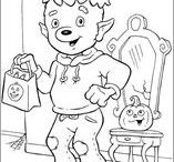 Halloween Colouring Pages / Halloween Colouring Pages for kids