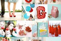 Turquoise & Red Inspiration / by Emily Press Labels