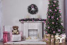 Новогодняя розово-лиловая классика