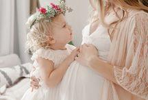 Sibiling maternity photos