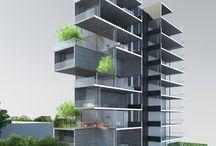 Edificios con terrazas