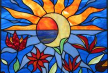 stained glass / by Toni Brown