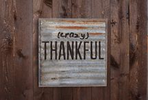 Crazy series (barn tin on wood) / Crazy blessed, crazy thankful, crazy beautiful, crazy love.