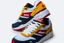 MOVE X ELLESSE / In this collaboration Move plays on the same field of a milestone of Italian sportswear: Ellesse.Highlight of this capsule is the customization of a great classic of retro running: LS360....