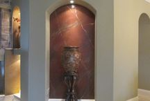 Faux Finish-Gemstones / Painting of gemstones on walls, counters, and columns