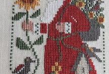 Cross Stitch - Santas