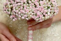 pearls and flower Bouquets