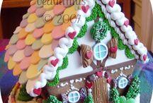 Christmas Dec. Cookies & Houses