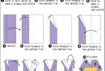 Folding guide for obi etc