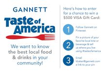 Gannett's #TasteOfAmerica contest / Gannett is holding a photo contest across the U.S. to see your pictures of food from local eateries. Here's all you need to know about how to enter and win #TasteOfAmerica. Contest ends on May 15, 2014 / by ABC10