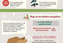 Especial Navidad / Infografias de salud y estética dental relacionadas con la Navidad