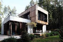 Box house - современный загородный дом / modern architecture, современная архитектура,