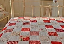 Quilt Two Color / I love two color quilts..red and white, blue and white, green and white,
