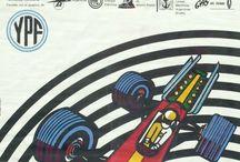 retro car grand prix poster / car race, grand prix, F1, autosport