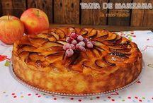 tarta de manzana y mermelada