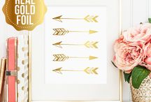 Real Gold Foil Prints - JaclynRoseDesign on Etsy