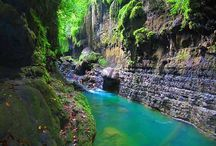 Cijulang the Green Canyon van Ciamis (west Java, Indonesia)