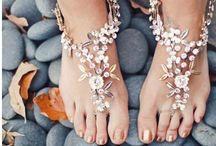 Beach wedding barefoot sandals, boho wedding sandals / Beach wedding, barefoot sandals foot jewelry, boho wedding sandals, barefoot bride, beachwear, resort wear, destination wedding, seaside wedding, wedding shoes, wedding sandals