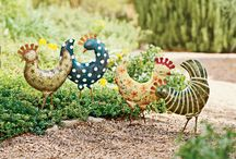 Chickens & Stars / Whimsical, humorous, and colorful garden accents to brighten every corner. / by Gardener's Supply Company