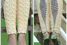Crochet - knitted legwarmers