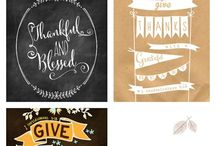 Thanksgiving Free Printables / Who doesn't love free ideas?