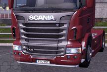 """Euro Truck Simulator 2 _ Frissen fenyezve - Scania TopLine R / Találtam egy újabb """"mod""""-ot, amelyikkel kemény 1! Euró-ért lehet fényeztetni. Többféle motívum is rendelkezésre áll, ez az egyik közülük."""