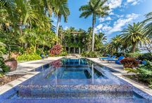FOR SALE ~ 16 Palm Avenue / THE GRAND DAME ESTATE OF PALM ISLAND SITS ON 3/4 ACRE IN THE HEART OF SoBe! Sunset Vistas over Miami Skyline w 225' of WF & 3 Vessel Marina. Hand-carved Italian Limestone Fountains, Putting Green & Bocce Ball Court. Olympic-sized Negative-edge Pool | $28,500,000 |http://www.16palmavenue.com