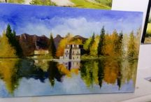Reflets d automne sur le lac de Thunes. SUISSE