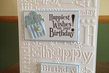 embossing happy birthday