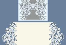 Lazer cut wedding cards