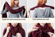 verschillende manieren voor dragen sjaal