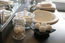 glass jars filled with white