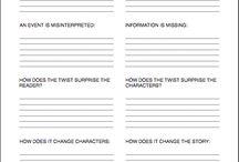 Novel planner worksheets