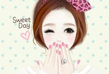 Lovely Girl - Cartoon Pictures